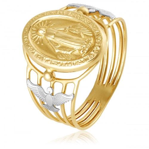 Anel em ouro Nossa Senhora das Gracas