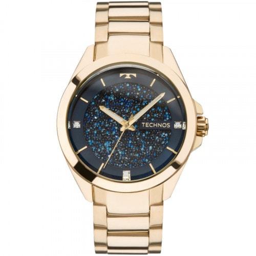Relógio Technos Feminino Elegance Crystal Dourado 203AAA4A