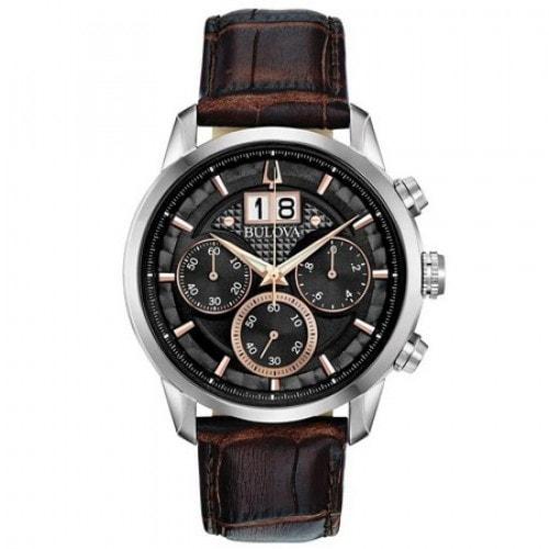 Relógio Bulova 96B311 Sutton Classic Pulseira Couro