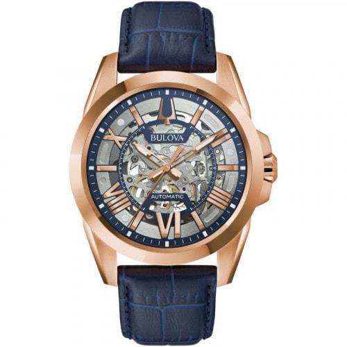 Relógio Bulova 97A161 Automatic Sutton Pulseira em Couro
