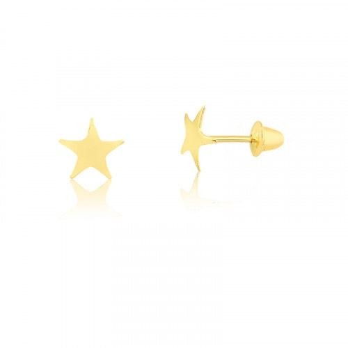 Brinco Infantil em ouro estrela