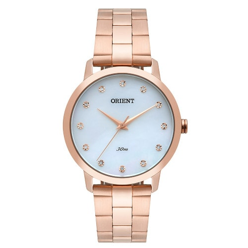 Relógio Orient Feminino  SWAROVSKI FRSS0033 Rose Gold