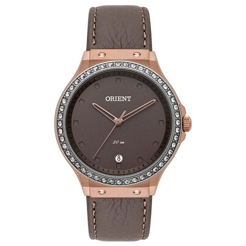 Relógio Orient Feminino Eternal  Analógico FTSC1007 Marron